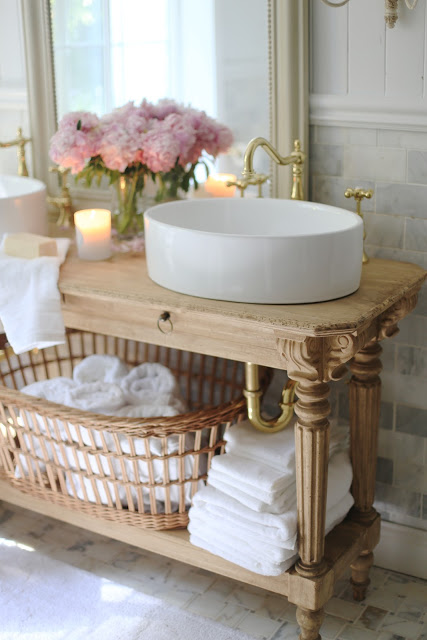 French cottage bathroom vanity how to get the look for French cottage bathroom design