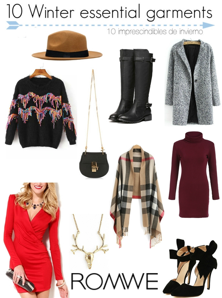 10 Winter essential garments with Romwe