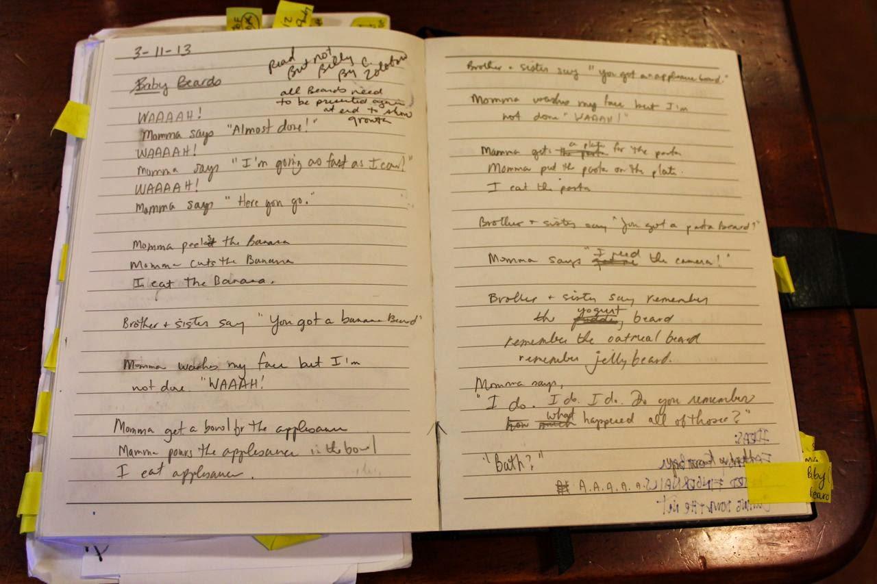 Rough Draft Writing of Baby Beards by Eric VanRaepenbusch via www.ericvr.com