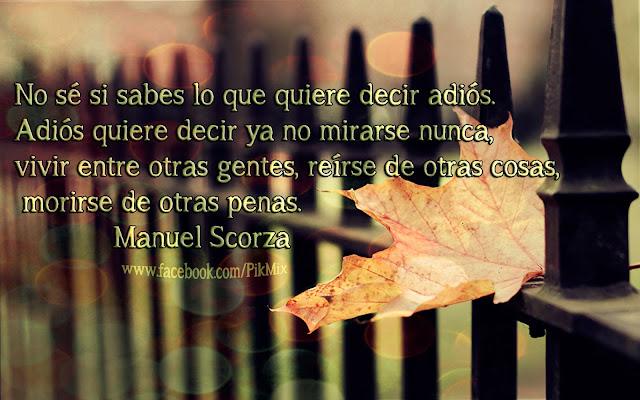 Serenata fragmento ● Poema de Manuel Scorza ● Hoja, sepia