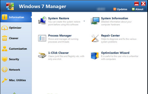 Windows 7 Manager 5.1.7 Full Version