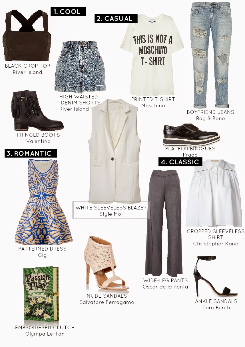 How to wear a sleeveless white blazer