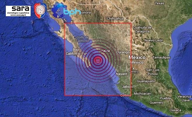 Fortissima scossa di terremoto di mw 6 2 nel golfo della for Cabine romantiche nel sud della california