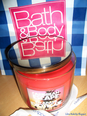 Bath and Body Works Caribbean Escape Candle, BBW