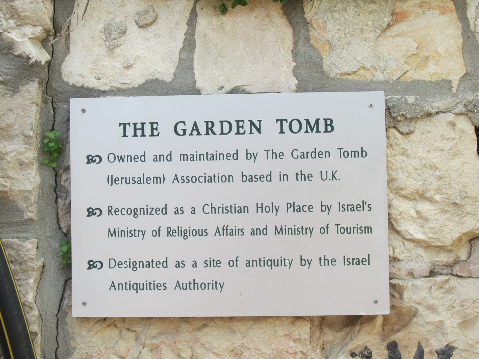 souvenir chronicles jerusalem the garden tomb and golgotha