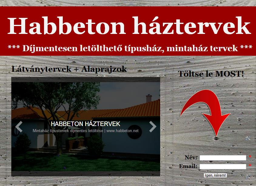 www.habbeton.net | Habbeton háztervek | Épül Kft.
