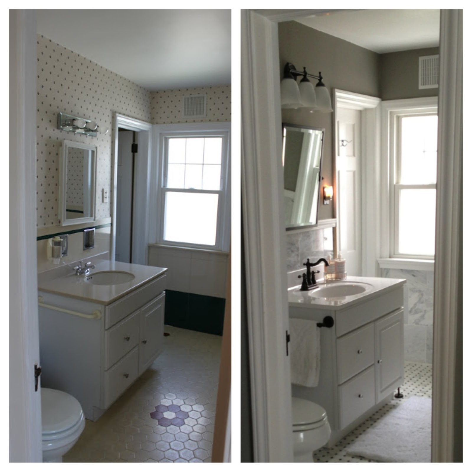 Have a fully functional bathroom here is a quick before and after shot