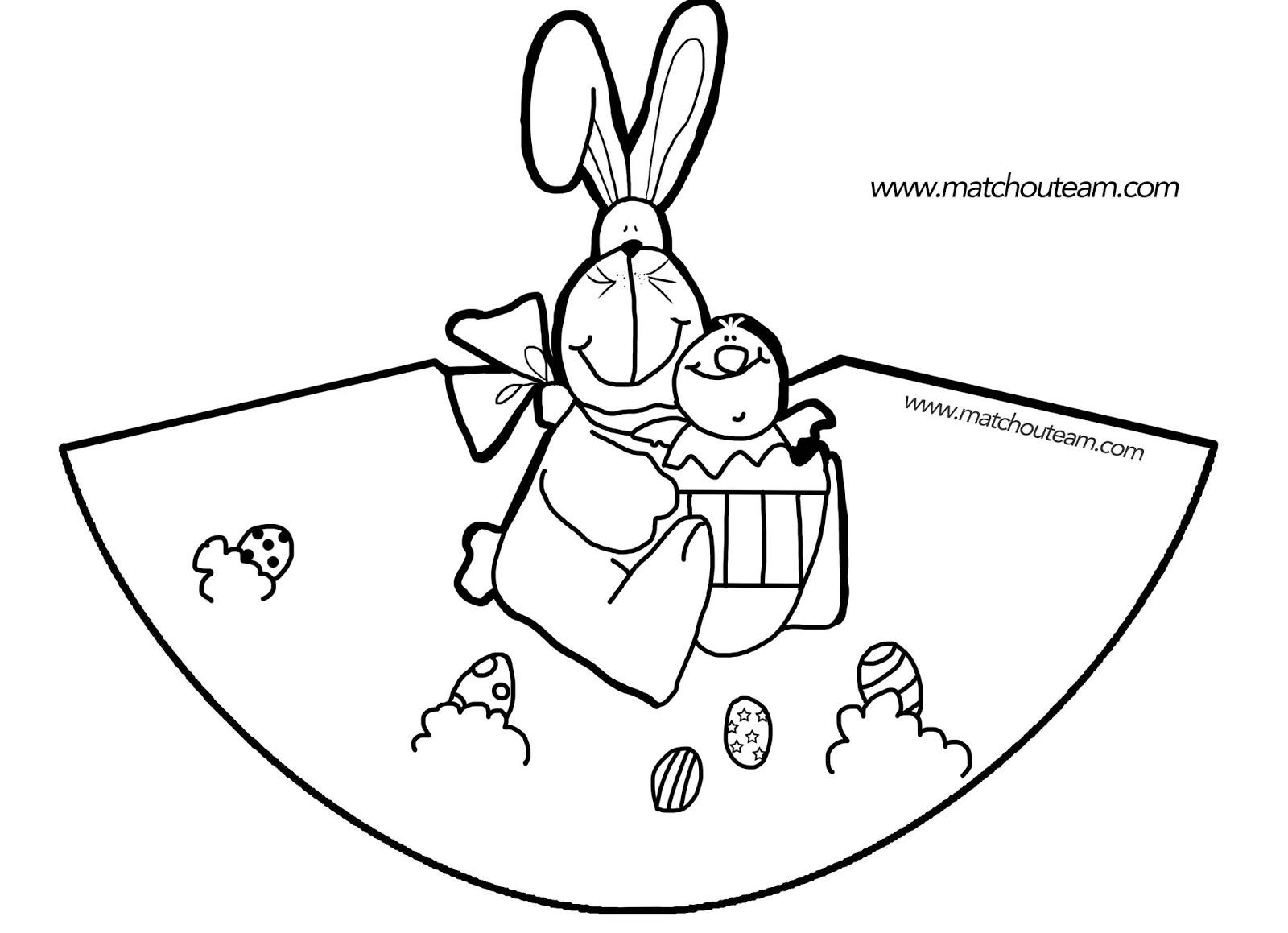 Célèbre coloriage de lapin de paques | Liberate LE57