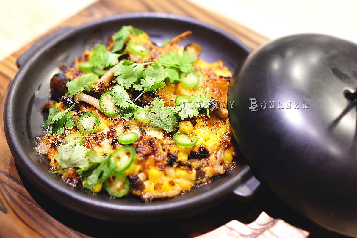 King Crab Dynamite - sweet corn, shimeji, togarashi mayo