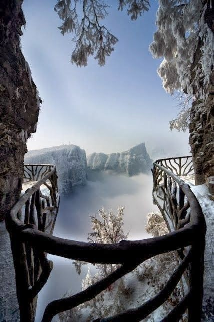 http://en.wikipedia.org/wiki/File:Tianmen_Mountain_cliff_footpath.jpg