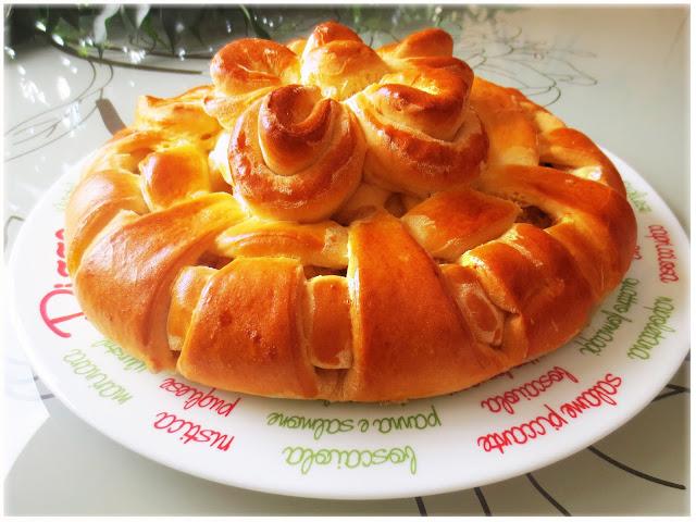 Пирог с начинкой из дрожжевого теста фото пошагово