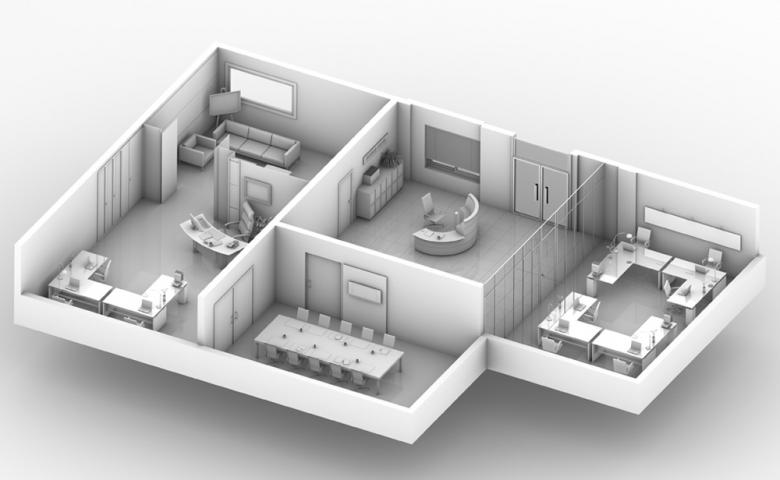 Foundation dezin decor 3d office layouts for 3d office design software