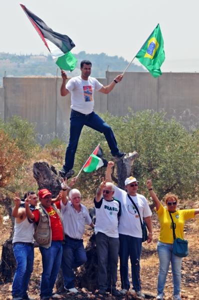 Delegação brasileira é solidária com a Palestina