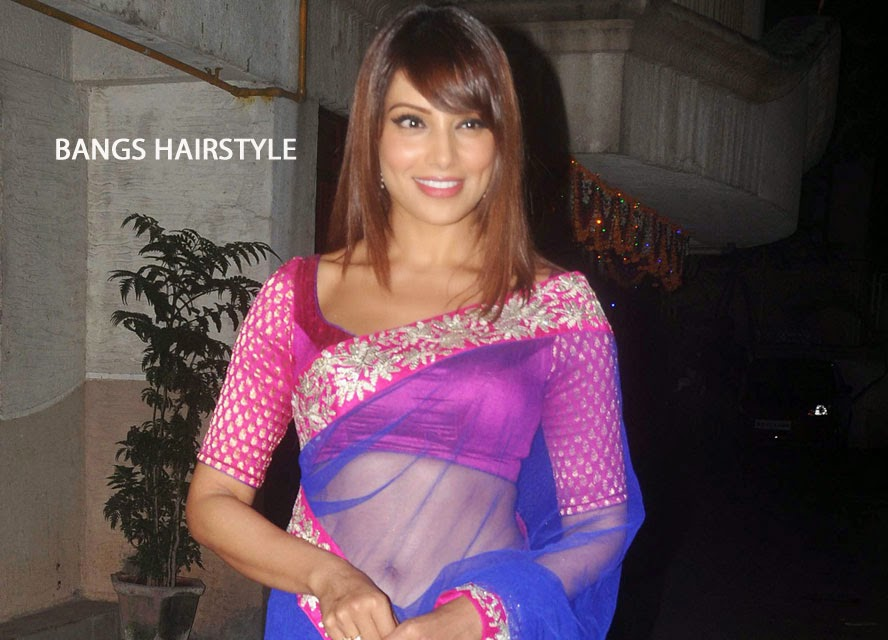 Bipasha Basu with Bangs Hairstyle
