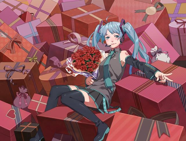 vocaloid valentines,hatsune miku,anime valentines