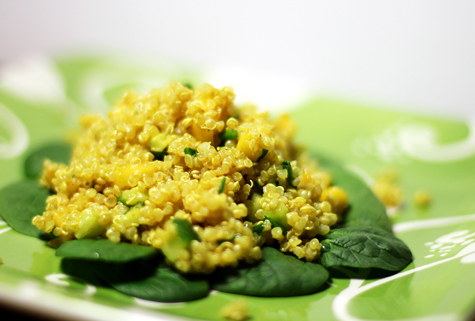 mango curried quinoa salad with mango recipes dishmaps quinoa salad ...