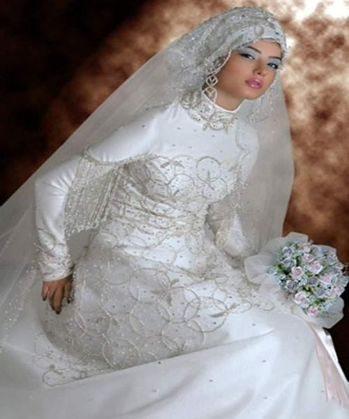 Muslim Wedding Bridesmaid Dresses : Modern muslim wedding dresses design with veil