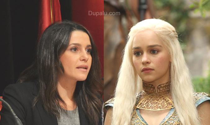 Inés Arrimadas en Juego de Tronos como  a Daenerys Targaryen, Khaleesi