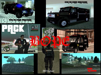 Pack do BOPE Gta San Andreas