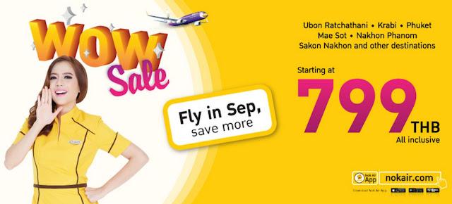 泰國鳥航 NokAir - 泰國內陸線促銷,曼谷出發清邁、清萊、布吉、蘇梅 $193起,只限2日。