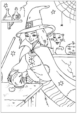 Wicked Witch Coloring Pages