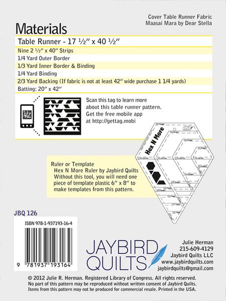 Tasty Table Runner Jaybird Quilts