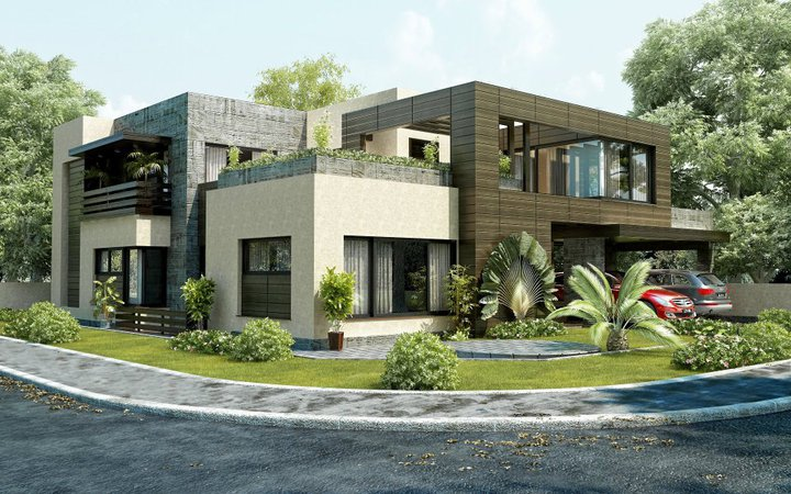 ... Housing Authority , Lahore 3D House Front Elevatin of Hosue Design