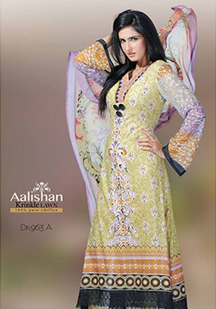 New Aali Shan Chiffon Lawn 2013 Prints Vol-4 Dawood