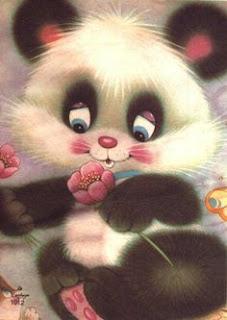 papeis de carta urso panda
