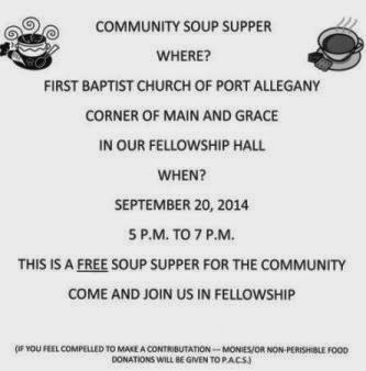 9-20 Community Soup Supper