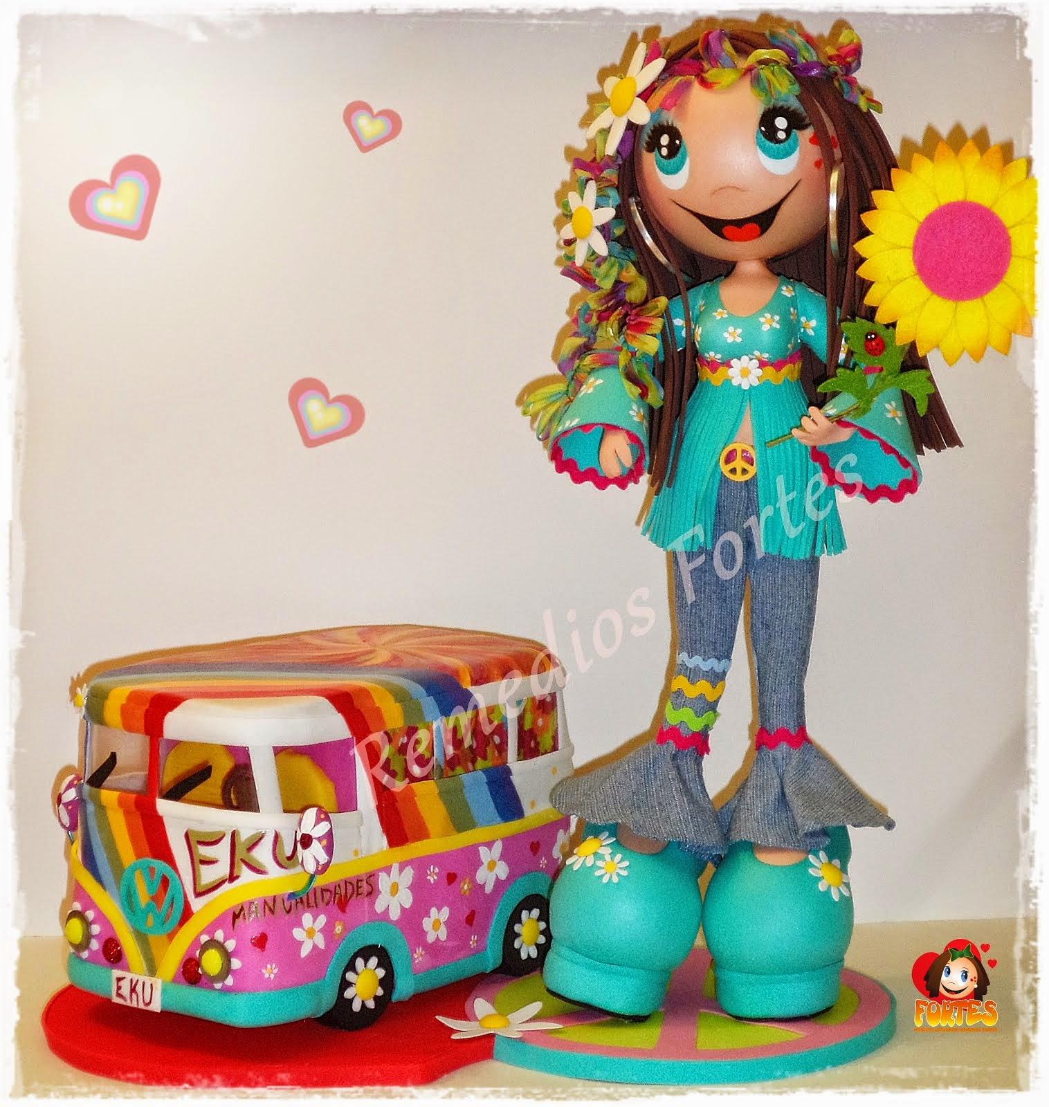 Hippy con furgoneta
