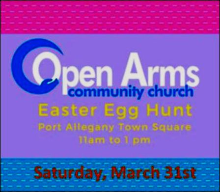 3-31 Open Arms Easter Egg Hunt, Port Allegany
