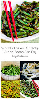 World's Easiest Garlicky Green Beans Stir Fry Recipe (Low-Carb, Gluten-Free) [from KalynsKitchen.com]