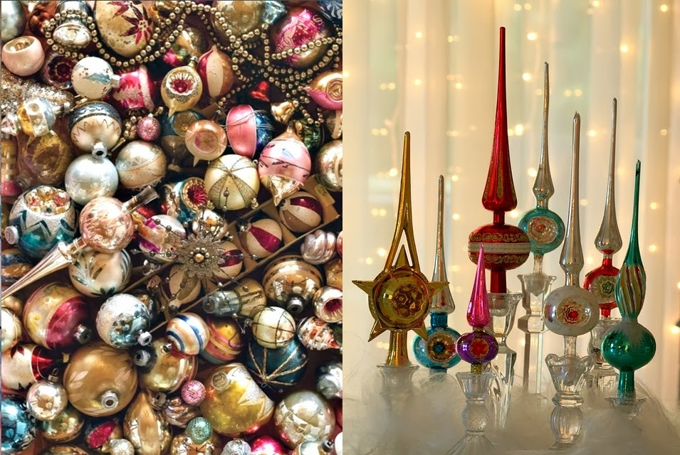 Vintage Xmas Tree Decorations - Home Design