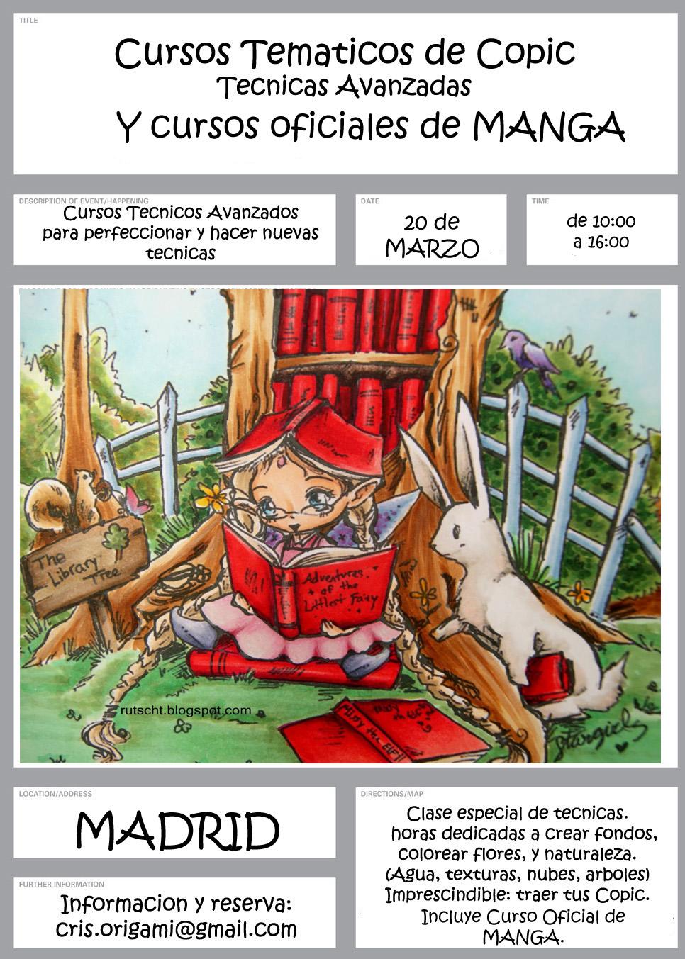 Copic marker espa a cursos de nivel superior y cursos - Cursos de manualidades en madrid ...