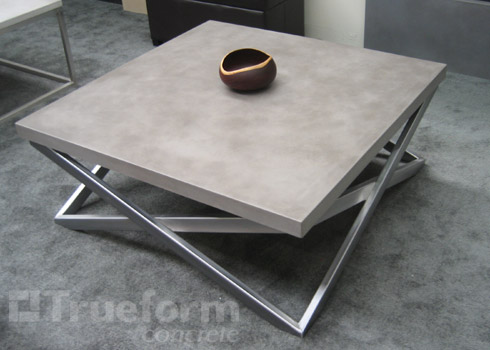 Mana anna concrete tables and how to make your own diy for Concrete coffee table