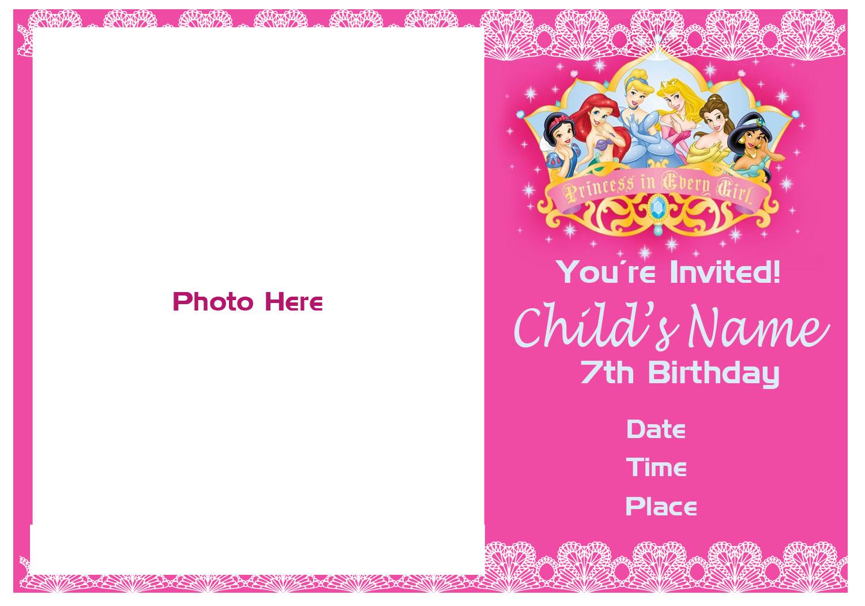 Pinktinyshop photo invites for 7th birthday girl 7th bg5 stopboris Image collections