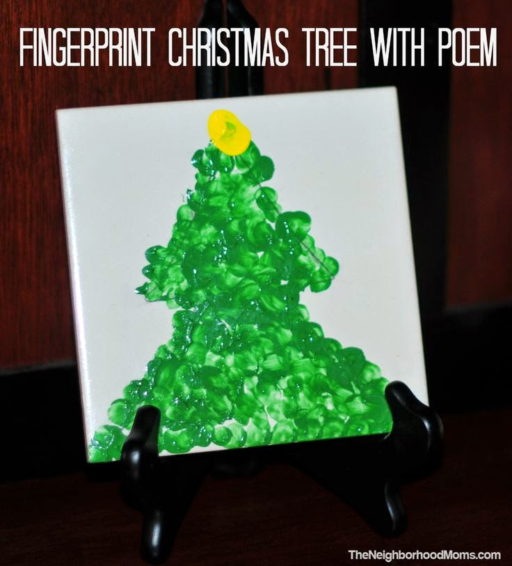 Fingerprint Christmas Tree with Poem 12 Handprint Footprint Fingerprint Christmas Craft Gift Ideas | directorjewels.com