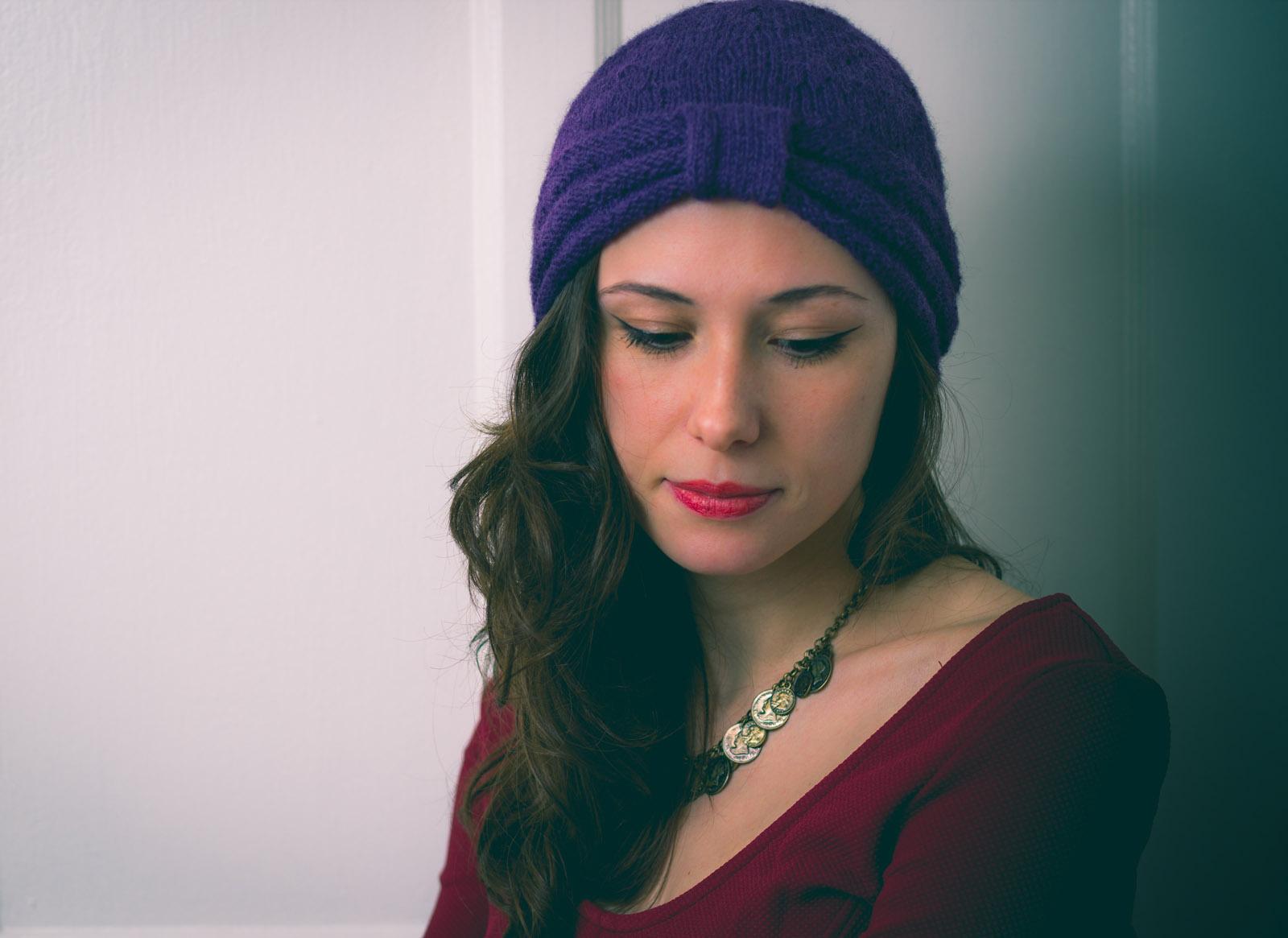 Headband Turban à tricoter en alpaga