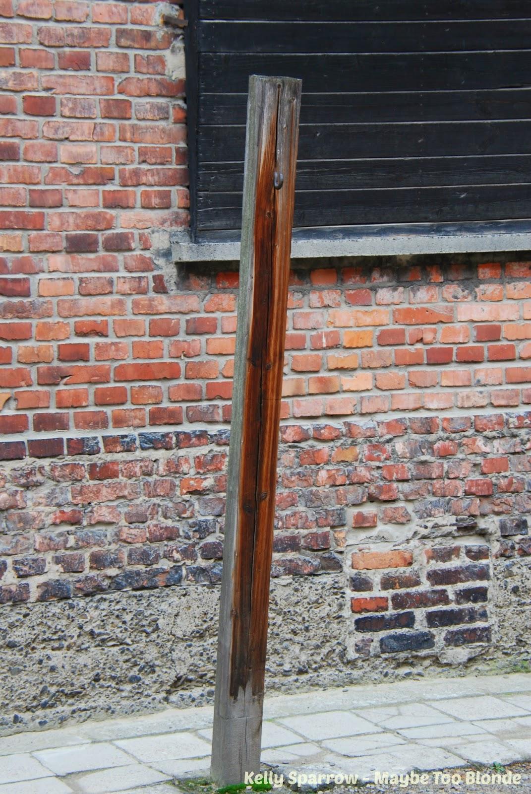 Auschwitz hanging beam