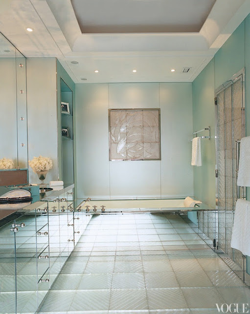 Зеркальная ванной комната
