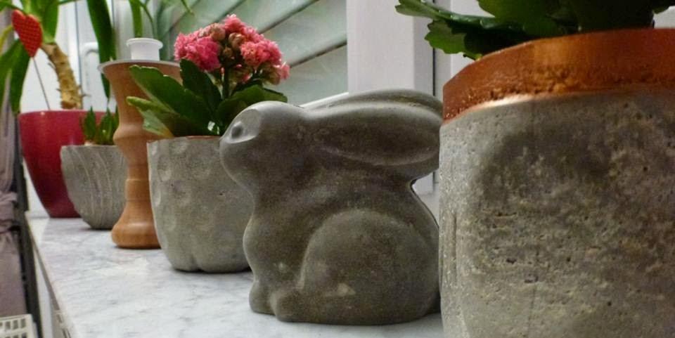 Hase aus Rayher Hobby Kreativ Beton gegossen