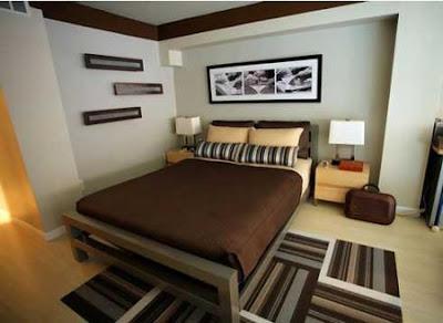 habitación en marrón