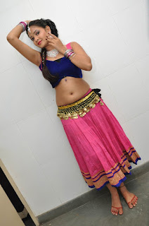 Shreya Vyaas in Blue CHoli and Pink Low Rise Skirt Spicy Pics Lovely Beauty
