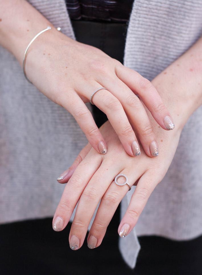 glitter ombre mani, Diamanti Per Tutti rings