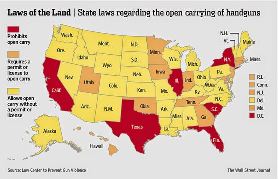 Joe My God Open Carry States Map: States With Open Carry Map At Usa Maps