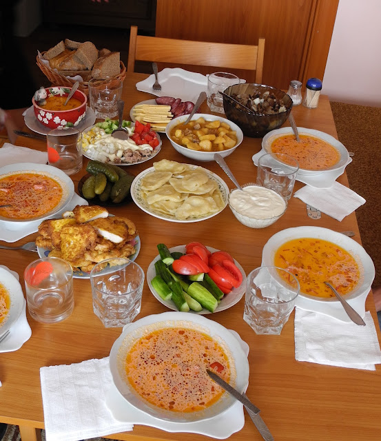 Ukrainian lunch for guests