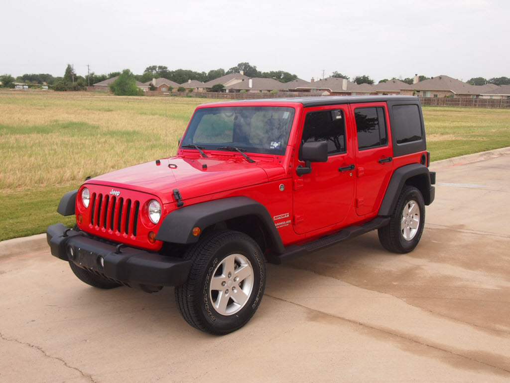 red 2011 jeep wrangler unlimited sport suv 4x4 power windows locks 28 988 granbury texas. Black Bedroom Furniture Sets. Home Design Ideas