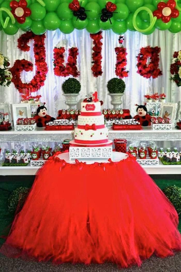 Decoração festa Tema Joaninha