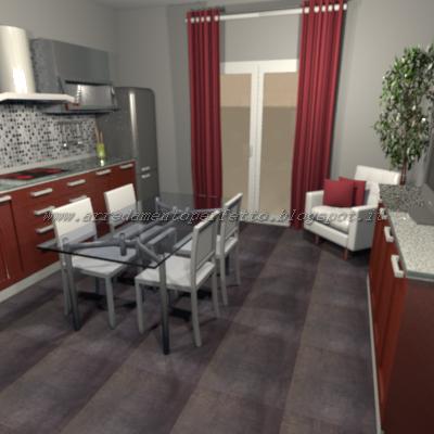 consigli d'arredo: la cucina in rovere rosso marsala - Pianale Cucina